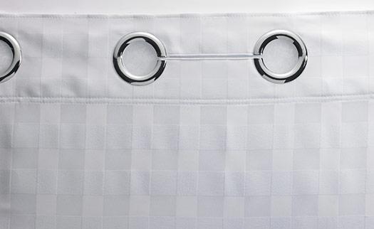 Basket Weave HooklessR Shower Curtain
