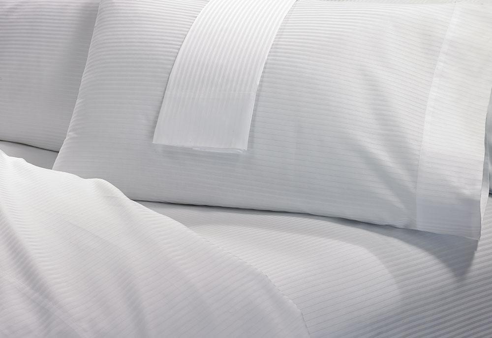 Cotton Stripe Sheet Set Hilton To Home Hotel Collection