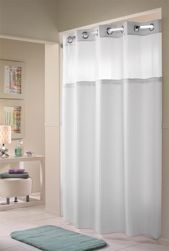 Herringbone Hookless 174 Shower Curtain Hilton To Home