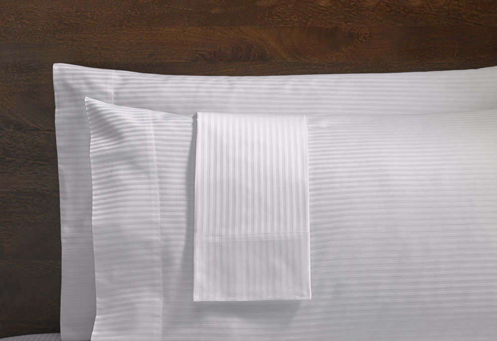 Hotel Stripe Pillowcases Hilton To Home Hotel Collection